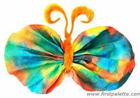کاردستی پروانه رنگی