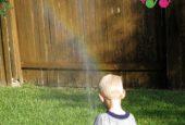 ساخت رنگین کمان با آب