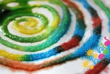 نقاشی خلاقانه کودکان با نمک