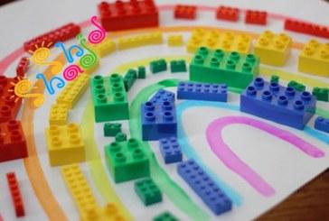 بازی آموزشی با لگو (رنگین کمان)