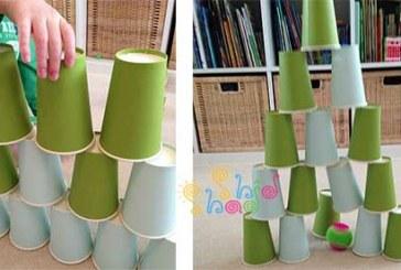 ۹ بازی سرگرم کننده با لیوان کاغذی