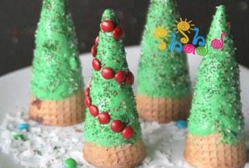 کیک کریسمس براونی