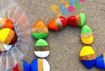 کاردستی و بازی با سنگ