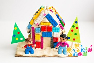 درست کردن خانه لگویی با خمیر بازی