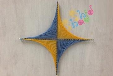 رسم نمودار هندسی با هنر نخ