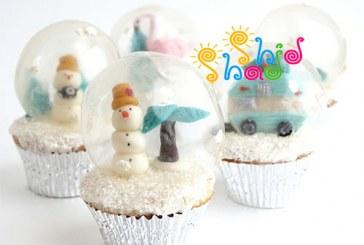 کاپ کیک برفی با حباب ژله ای