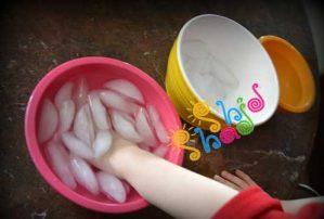 آزمایش-ساده-علمی چسبیدن یخ