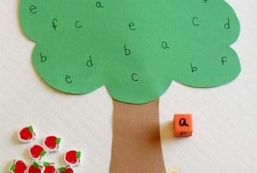 بازی حروف با درخت سیب