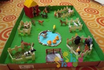 مزرعه حیوانات با چوب بستنی
