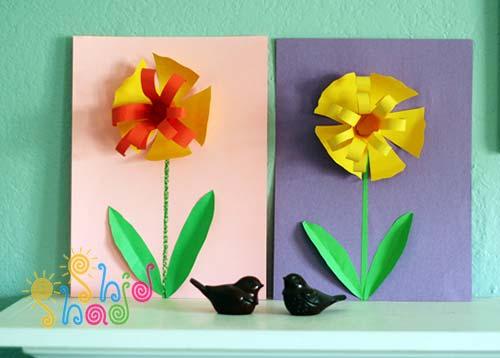 کاردستی-کاغذی-گل