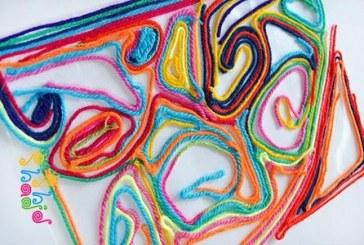 نقاشی با نخ یک روش نقاشی خلاقانه