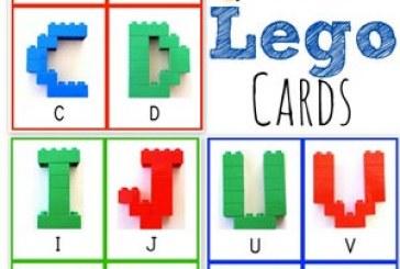 آموزش حروف انگلیسی با کارت های لگو