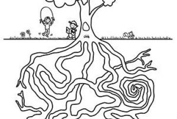 کاربرگ مسیریابی ریشه درخت