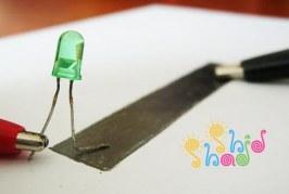 ساخت مدار الکتریکی با مداد