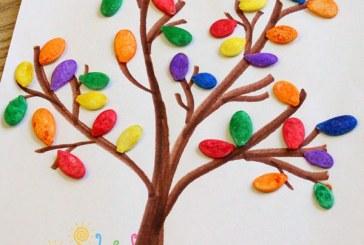 کاردستی درخت پاییزی