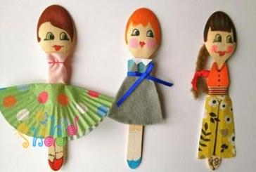 ساخت عروسک با قاشق برای نمایش عروسکی