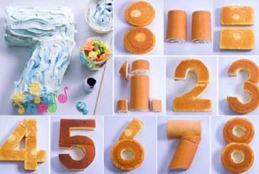 کیک تولد به شکل عدد