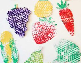 کاردستی میوه با مقوا